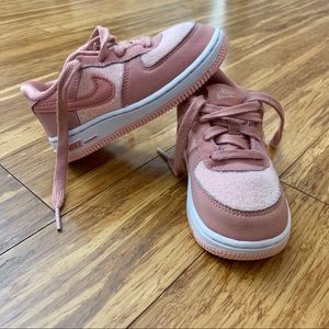 Rose Pink Toddler Girls Air Force Ones💕